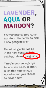 This is an article from the newspaper saying that results are out August 7.